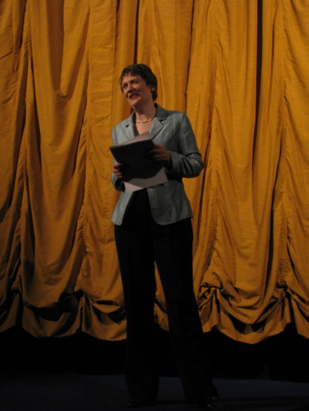 "Helen Clark speaking at the New Zealand premier of ""An Island Calling"" by Owen Scott"
